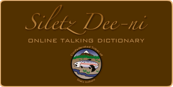 Siletz Dee-ni online talking dictionary
